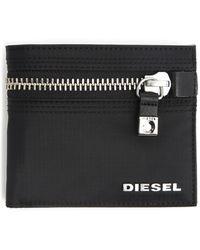 Diesel Bios Black Zip Wallet - Lyst