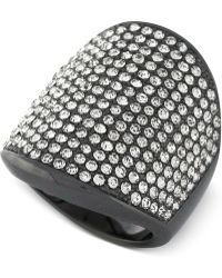 Vince Camuto - Crystal Pave Shield Ring - Lyst