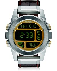 Nixon | Unit Digital Stainless Steel & Leather Watch | Lyst