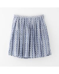 Band Of Outsiders Pleat Skirt - Lyst