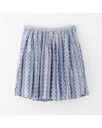 Band of Outsiders Pleated Eyelet Skirt - Lyst