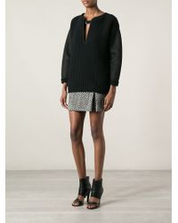 Emanuel Ungaro Panelled Chunky Knit Sweater - Lyst