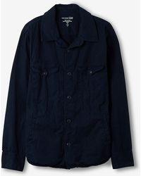 Save Khaki Shirt Jacket - Lyst