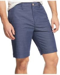 Tommy Hilfiger Rice Custom-Fit Shorts blue - Lyst