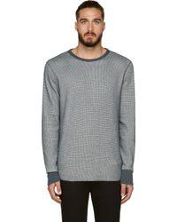 Rag & Bone Dark Slate Textured Knit Thermal Pullover - Lyst
