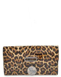 Christian Louboutin 'Riviera' Leopard Print Patent Leather Clutch - Lyst
