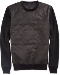 LRG Aggro Quilted Faux Leather Sweatshirt - Lyst