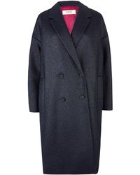 Paul by Paul Smith - Navy Metallic Weave Rafia Coat - Lyst