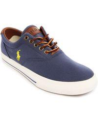 Polo Ralph Lauren Vaughn Aviator Navy Canvas Sneakers - Lyst