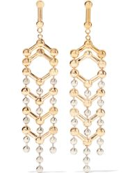 Giles & Brother - Gold And Silver-plated Earrings - Lyst
