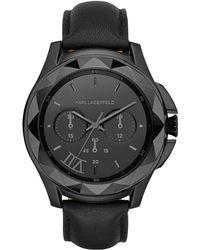 Karl Lagerfeld Karl 7 Black Mixed Media Watch black - Lyst