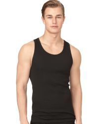 Calvin Klein Mens Classic Ribbed Tank 3pack - Lyst