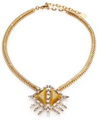 DANNIJO Leighton Crystal Pendant Necklace - Lyst
