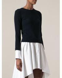 Alexander McQueen Trompe Loeil Sweater Shirt - Lyst