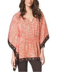 Michael Kors Savannah Printed Kimono Top Plus Size - Lyst