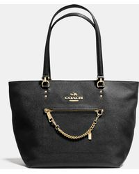 Coach Town Car Tote In Crossgrain Leather - Lyst