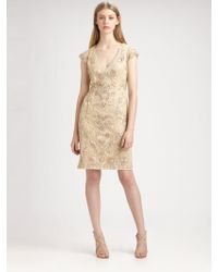 Sue Wong - Soutache Embroidery Dress - Lyst