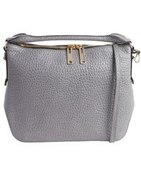 Burberry Stone Embossed Leather Shoulder Bag - Lyst