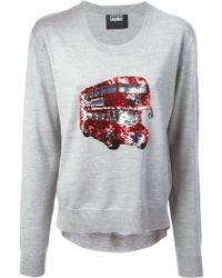 Markus Lupfer London Bus Sequin Joey Sweater - Lyst