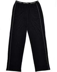 Calvin Klein Black Lounge Pants - Lyst