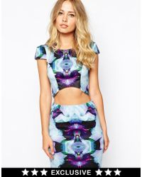 Ginger Fizz | Mad With Desire Structured Crop Top | Lyst
