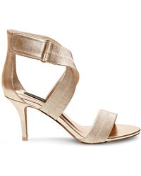 Steven by Steve Madden Ankle-Strap Sandals - Vaaale Elastic High Heel - Lyst
