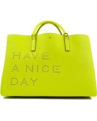 Anya Hindmarch Ebury Maxi Featherweight Have A Nice Day Tote - Lyst