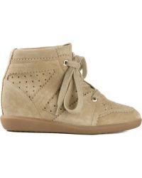 Etoile Isabel Marant Khaki Bobby Sneakers - Lyst