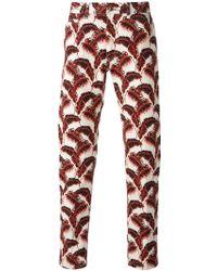 Marc Jacobs Leaf Print Straight Leg Trousers - Lyst