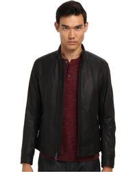 Vince Lightweight Leather Moto Jacket - Lyst