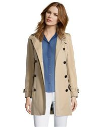 Burberry London Cotton Twill Double Breasted Trench Coat khaki - Lyst