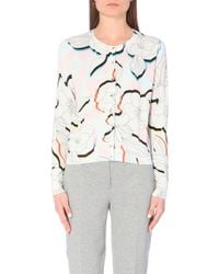 Paul Smith Black Label Floral Print Cotton Cardigan - For Women - Lyst