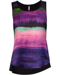 Karen Millen Printed Silk Front Vest - Lyst