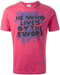 Vivienne Westwood Slogan Print T-shirt - Lyst