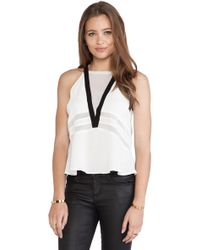 Three Of Something White Curl Cami - Lyst