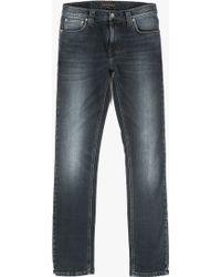 """Nudie Jeans 32"""" Tube Tom Jean black - Lyst"""