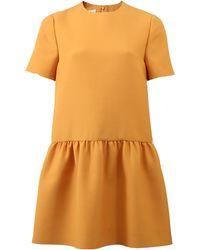 Valentino | Gathered Drop Waist Dress | Lyst