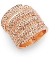 Cara - Pavé Ring Set/rose Goldtone - Lyst