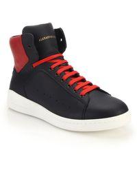 Alexander McQueen Leather High-Top Sneakers - Lyst