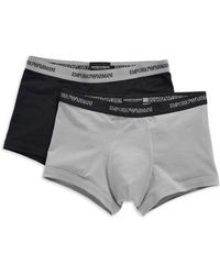 Emporio Armani Twopack Trunks - Lyst