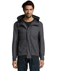 Matiere - Anthracite Heathered Wool Blend 'mason' Hooded Windbreaker - Lyst