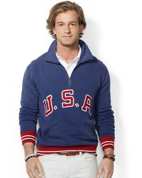 Polo Ralph Lauren Fleece Usa Pullover - Lyst