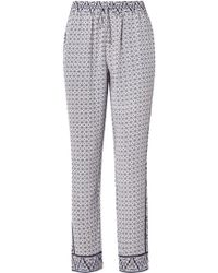 Joie - Ferina Printed Silk Crepe De Chine Trousers - Lyst