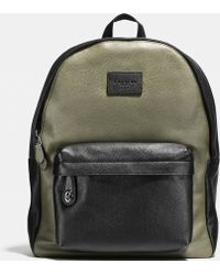 Coach | black Campus Backpack In Colorblock Refined Pebble Leather | Lyst