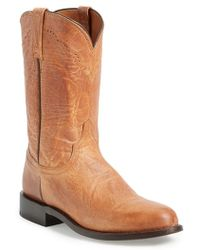 Lucchese | 'goat Roper - Argyle Stitch' Leather Boot | Lyst