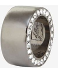 Fallon | Pave Band Ring | Lyst