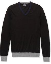 McQ by Alexander McQueen Colour-block Wool Sweater - Lyst