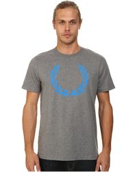 Fred Perry Laurel Print T-Shirt gray - Lyst