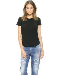 James Perse Sheer Slub Crew Neck Tee   - Lyst