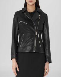 Reiss - Jacket - Lillia Leather Biker - Lyst